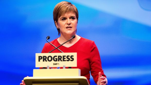 The Scottish National Party (SNP) is in a more difficult situation than at any point since Nicola Sturgeon (above) succeeded Alex Salmond in 2014. Photograph: Robert Perry/EPA