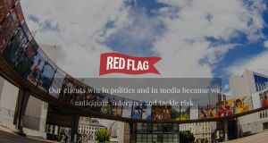 Red Flag Consulting, whose senior staff and principals have strong historical connections to the Tony O'Reilly era at Independent News and Media, deny Denis O'Brien's assertions. Illustration: Thisisredflag.com