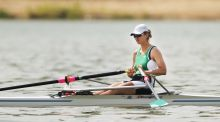 Monika Dukarska: the Killorglin rower is the defending champion in the women's solo; she will compete in heats in Thonon on Friday, with 20 rowers finding their way to Saturday's final. Photograph: Cathal Noonan