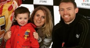 Katie Kiernan with her partner Shane and son Nathan in Canada: 'I knew if we stayed in Ireland, we would struggle for the rest of our lives.'