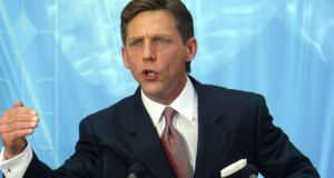 Church of Scientology leader David Miscavige speaks at a 2004 event in Madrid. Photograph: AFP/Getty Images