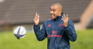 Simon Zebo returns to the Munster side and is one of five changes for the Champions Cup opener away to Castres on Sunday. Photograph: Morgan Treacy/Inpho