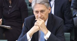 "British chancellor Philip Hammond: ""The enemy, the opponents, are out there on the other side of the table. Those are the people that we have to negotiate with to get the very best deal for Britain.""   File photograph: PA Wire"