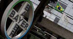 Bayer was one of the biggest boosts to the Stoxx 600, up 1.2 per cent after BASF agreed to buy parts of its seed and herbicide businesses. Photograph: Paulo Whitaker/Reuters