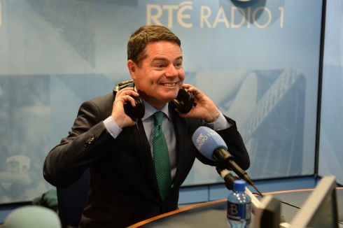 BUDGET QUIZ: Minister for Finance Paschal Donohoe at RTÉ Radio 1 for Today with Sean O'Rourke. Photograph: Dara Mac Dónaill