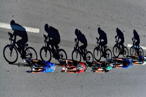 PRESIDENTIAL RACE: Cyclists compete during the first stage of the 53rd Presidential Cycling Tour of Turkey. Photograph: Robertus Pudyanto/Getty
