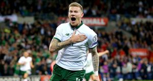 Ireland's win against Wales, courtesy of James McClean's winning goal, brings the national team closer to a place at the World Cup – and reminds us that international soccer has a way of subverting the rules of global power. Photograph: Ryan Byrne/Inpho