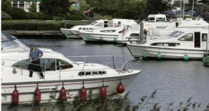 Boats moored at Carrick-on-Shannon, Co Leitrim. Photograph: Dara Mac Dónaill