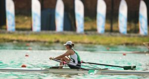 Ireland's Monika Dukarska won silver at the World Coastal Rowing Championships. Photo: Inpho