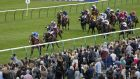Withhold and Silvestre De Sousa lead home the field in the Cesarewitch at Newmarket. Photograph: Alan Crowhurst/Getty