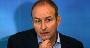 Fianna Fáil leader Micheál Martin also put the Government 'on notice' in regard to the delivery of housing and health. Photograph: Laura Hutton/PA Wire