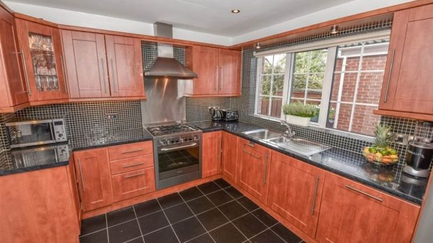 A view of the kitchen in McIlroy's childhood house. Photo: Propertynews.com
