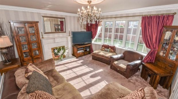 The sitting room in the house on Belfast Road, Holywood. Photo: Propertynews.com
