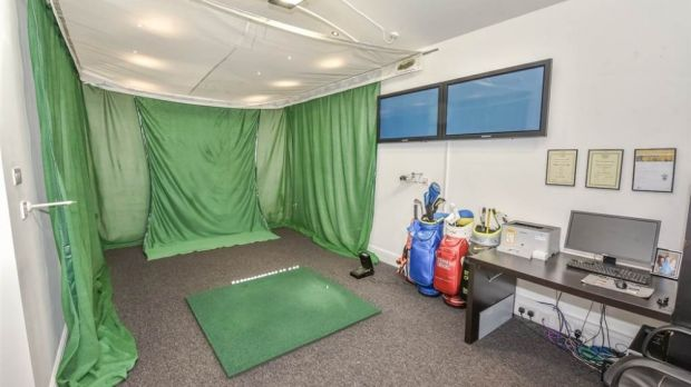 Parts of the house look like a small-scale factory for the production of golfers. Photo: Propertynews.com