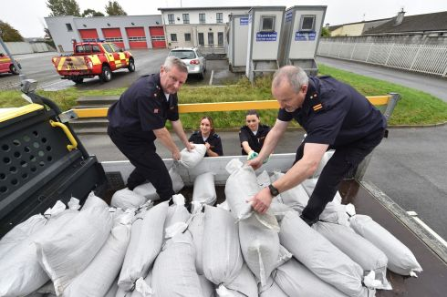 HURRICANE OPHELIA: Members of the Kerry branch of the Civil Defence prepare for Hurricane Ophelia. Photograph: Domnick Walsh