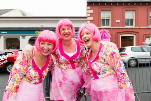 PINK LADIES: Linda Cleary, Sandra Limerick and Pamela Collins pictured at the annual Pink Ribbon Walk, in Union Hall, Co Cork. Photograph: Emma Jervis Photography