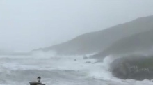 Hurricane Ophelia batters the Cork coast