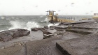 Bather recorded swimming in Salthill as Ophelia rages