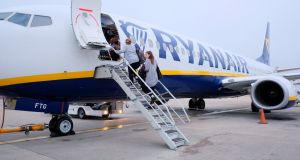 Ryanair dropped 1.9 per cent to €16.60  as Ophelia slammed into Ireland.