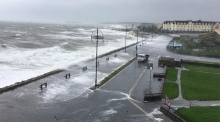 Coastal defences completely breached in Salthill