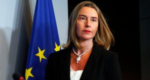 EU high representative for foreign affairs and security policy Federica Mogherini: said Mr Trump has promised to consult allies on the agreement and to take account of their strategic interests. Photograph: Julien Warnand/EPA