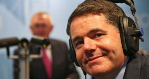 Minister for Finance Paschal Donohoe at RTÉ Radio Centre. Photograph: Colin Keegan, Collins Dublin.