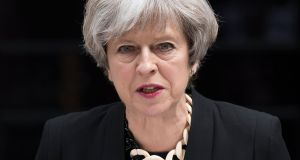 British prime minister Theresa May.  Photograph: Epa/Will Oliver