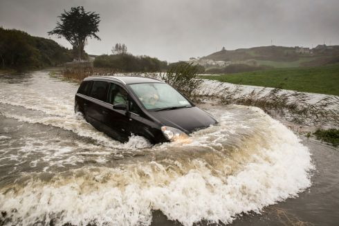 Ophelia Storm flooding  in Tragumna Skibbereen, West Cork.  Photograph:  Emma Jervis