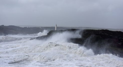 Storm Ophelia batters the west Cork coast at the Beacon near Baltimore. Photograph: Youen Jacob/Provision