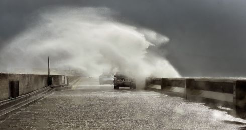 Worst storm in 50 years hitting Kerry today as  Ophelia makes landfall off the West Coast of Kerry .  Drivers pictured on Fenit pier . The Coast Guard has advised people to stay away from the shoreline due to swells of up to 40 feet.  Photograph: Domnick Walsh
