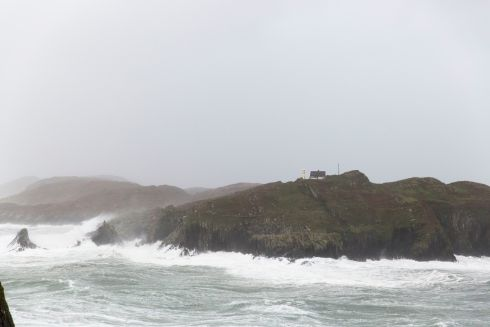 High winds of Ophelia in Baltimore, West Cork.  Photograph: Emma Jervis
