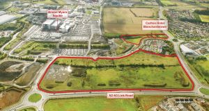 The Tyrrelstown land, to be offered for sale in one or two lots, is located close to the Carlton Hotel in Blanchardstown, Dublin 15