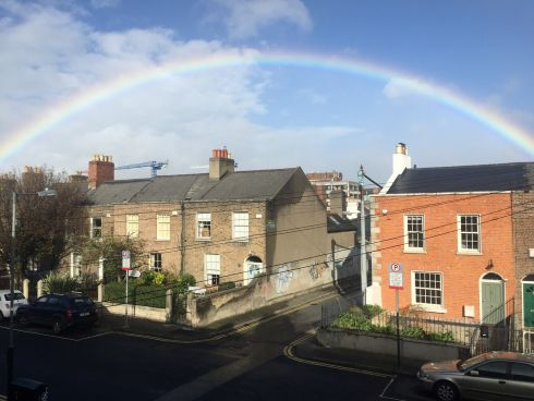 Wind and rainbows in Rathmines, Dublin. Photograph: Aoife O Riordain