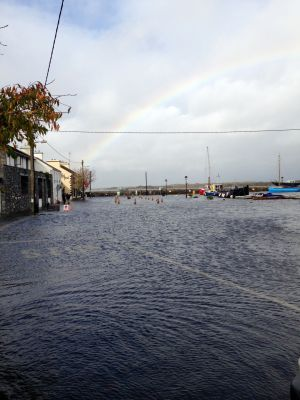 Flooding at Kinvara Pier in Co Galway at 3.15pm. Photograph: Lily Johnston