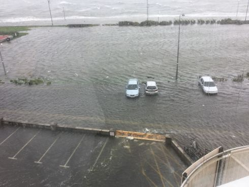 Flooding at Salthill, Co Galway. Photograph: Inga Turcan