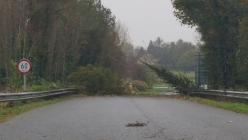 Road blocked in Mullingar, Co Westmeath. Photograh: Vitalija Mackeviciene