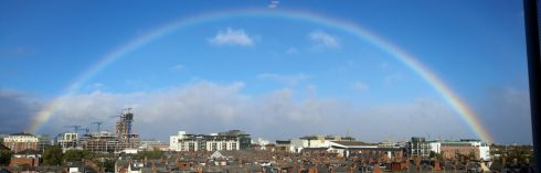 Svetlana Popov, Dublin: 'This photo was taken from a Gasworks apartments window in Dublin 2 at about 4-5pm on Monday.'