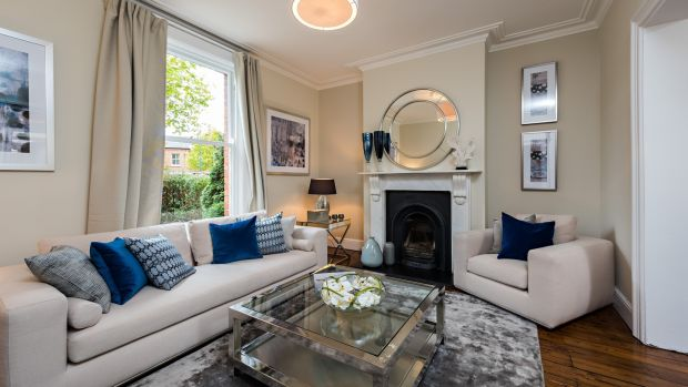 Living room of house in Ranelagh, Dublin staged by House&Garden.