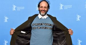 Luca Guadagnino shows off his Jamie Reid/Valentino top at the Berlin International Film Festival in February. Photograph: Pascal Le Segretain/Getty Images