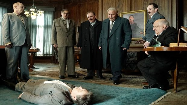 Steve Buscemi, Jeffrey Tambor, Dermot Crowley, Simon Russell Beale, Paul Whitehouse and Paul Chahidi in The Death of Stalin