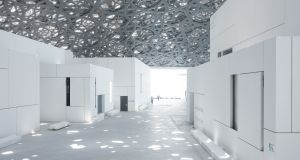 Inside the Louvre Abu Dhabi designed by the French architect Jean Nouvel