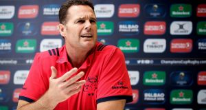 "Munster director of rugby Rassie Erasmus: ""If we play like we played last weekend we won't get points out of this game."" Photograph: Bryan Keane/Inpho"