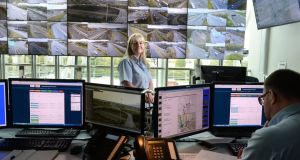 Michelle Malone,  supervisor at the Management Traffic Control Centre  in Dublin: In the seven months to July there were 3,832 incidents – mostly breakdowns – affecting traffic along the M50. Photograph: Dara Mac Dónaill/The Irish Times