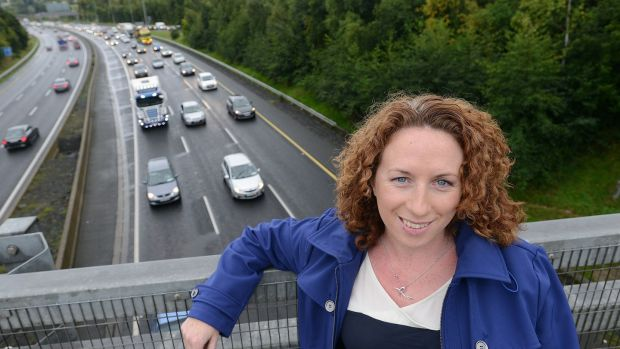"Deirdre Clayton (36) who commutes from Celbridge to her job in UCD: ""There is definitely a 7am rush hour now."" Photograph: Dave Meehan/The Irish Times"