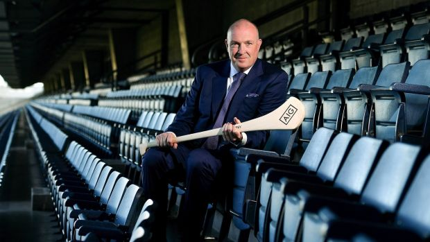 "Pat Gilroy in Croke Park to launch the AIG Fenway Hurling Classic: ""There is so much hurling happening in the city that we really should be pushing to be up there on a more consistent basis."" Photograph: Brendan Moran/Sportsfile"