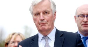 "The EU's chief Brexit negotiator Michel Barnier: says pace of ""divorce"" talks inadequate. Photograph: Liam McBurney/PA"