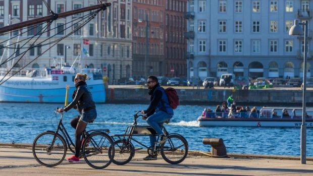The people of Copenhagen cycle everywhere. You can rent one of the thousands of electric city bikes for €4 an hour