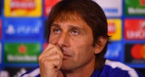 "Chelsea manager Antonio Conte: ""We have players in our team who are not used to playing three games in a week."" Photograph:  Dan Mullan/Getty Images"