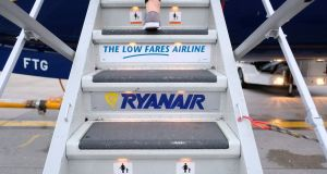 Ryanair has warned that there could be months during which there are no flights between the UK and Europe. Photograph: Hannah McKay/Reuters