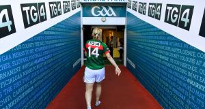 Cora Staunton leaves Croke Park after the All-Ireland defeat to Dublin. Photograph: Getty Images